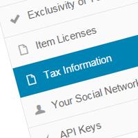 Návod na Tax Information pro fotobanky Envato
